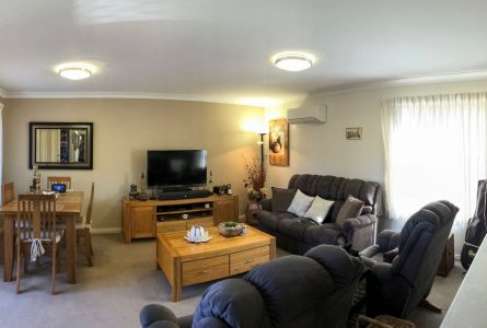 The cosy interior of a retirement unit within Whiddon's retirement village in Newcastle.
