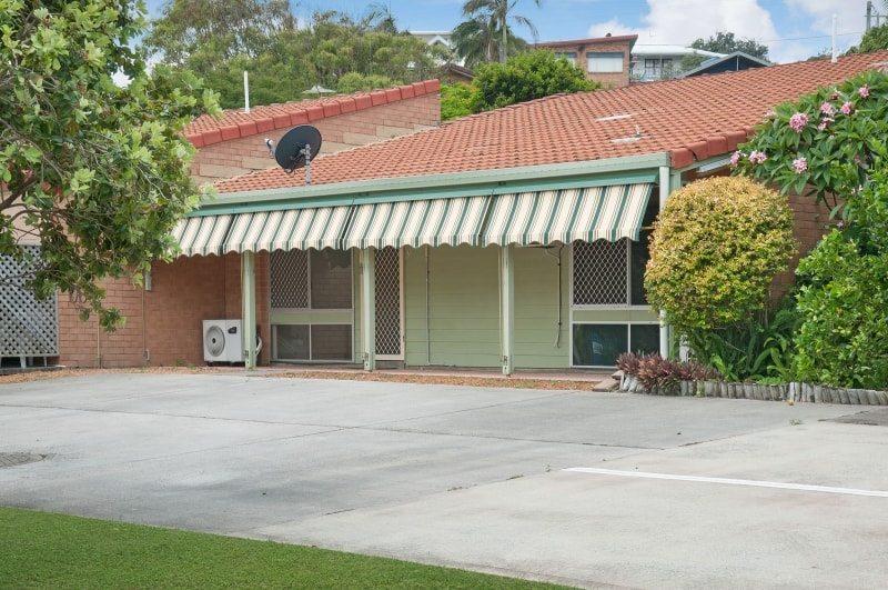 The rear view of Whiddon Yamba's quaint retirement village.